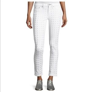 Rag and Bone Studded Jeans in Blanc